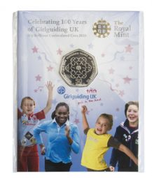 2010 50p 100th Anniversary Of Girl Guides Uncirculated Coin Pack Small Version